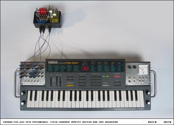 Circuit bent Yamaha PSS-280
